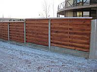 """Забор деревянный """"Калина""""."""