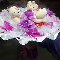 """Букет из конфет  и игрушек """"Романтичный дар"""""""