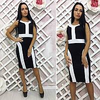 Платье комбинированное / микродайвинг / Украина