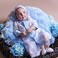 Рубашка Крестильная для мальчика от Miminobaby белая