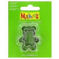 Каттер Makin's металлический для работы с полимерной глиной, Медвежонок, 3шт.
