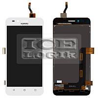 Дисплей для мобильного телефона Huawei Y3 II, белый, с сенсорным экраном, (версия 3G), логотип Huawe