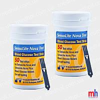 Тест полоски Сенсолайт Нова 50 штук 2 упаковки