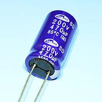 Конденсатор электролитический   470мкФ 200В Samwha  85*С SD 22*40