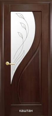 """Двери Прима стекло с рисунок Р2 пвх """"De Luxe"""""""