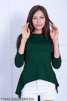 Женская блузка-туника Подіум Harmony 17045-DARKGREEN S Зеленый