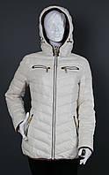 Куртка женская демисезонная Covily 859 ваниль, фото 1