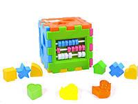 Логический куб-сортер со счётами для малышей.