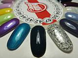 Гель-лак My Nail №67 (прозрачный с серебряными и золотыми блестками разных размеров) 9 мл, фото 3