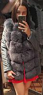Меховая куртка женская из меха песца