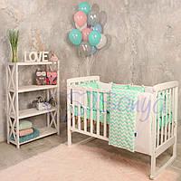 Набор в детскую кроватку Baby Design звезды мятные (6 предметов)