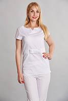 Медицинская женская блуза белая SM 1008 Стелла