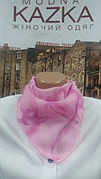 Шейний платок розовый тюльпан