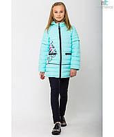 Модная весенняя куртка на девочку Помадка с отстежными рукавами Размеры 122-152