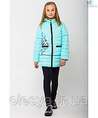 Модная осенняя куртка на девочку Помадка с отстежными рукавами Размеры 30- 42