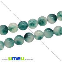 Бусина натуральный камень Мрамор зеленый, 8 мм, Круглая, 1 шт (BUS-006408)