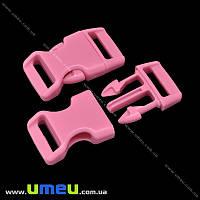 Застёжка-фастекс для браслетов выживания, 40х22х9 мм, Розовый, 1 шт (ZAM-018971)