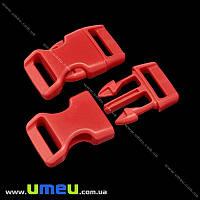Застёжка-фастекс для браслетов выживания, 40х22х9 мм, Красный, 1 шт (ZAM-018973)