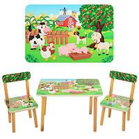 """Детский деревянный столик со стульчиками """"Ферма"""" 501-10 Vivast"""