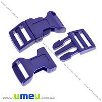 Застёжка-фастекс для браслетов выживания, 44х20х7 мм, Синий, 1 шт (ZAM-018958)