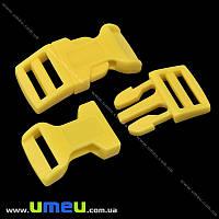 Застёжка-фастекс для браслетов выживания, 44х20х7 мм, Желтый, 1 шт (ZAM-018956)