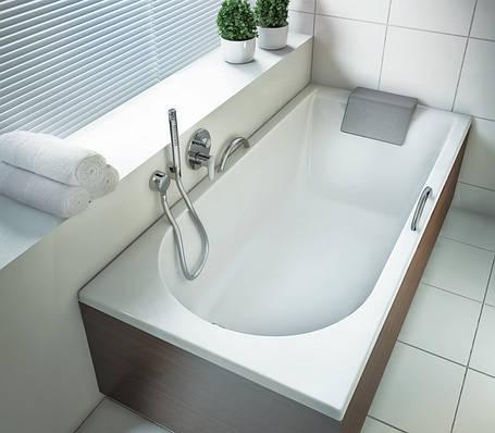 KOLO MIRRA ванна прямоугольная 140*70 см, с ножками, элементами крепления и подголовником, фото 2