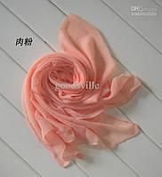 Шифоновый шарф персик