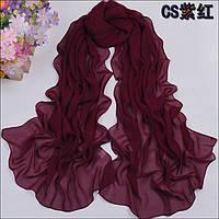 Шифоновый шарф бордо
