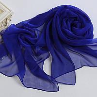 Шифоновый шарф темно синий