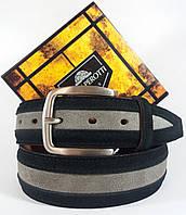 Джинсовый Кожаный ремень итальянской фирмы Tony Perotti 1000