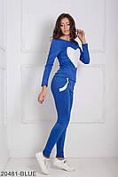 Костюми жіночі Подіум Жіночий спортивний костюм Подіум Williams 20481-BLUE XS Синій