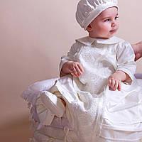 Детский берет Елисей от Miminobaby кремовый