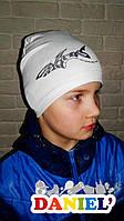 Детские весенние шапки. Французский трикотаж.
