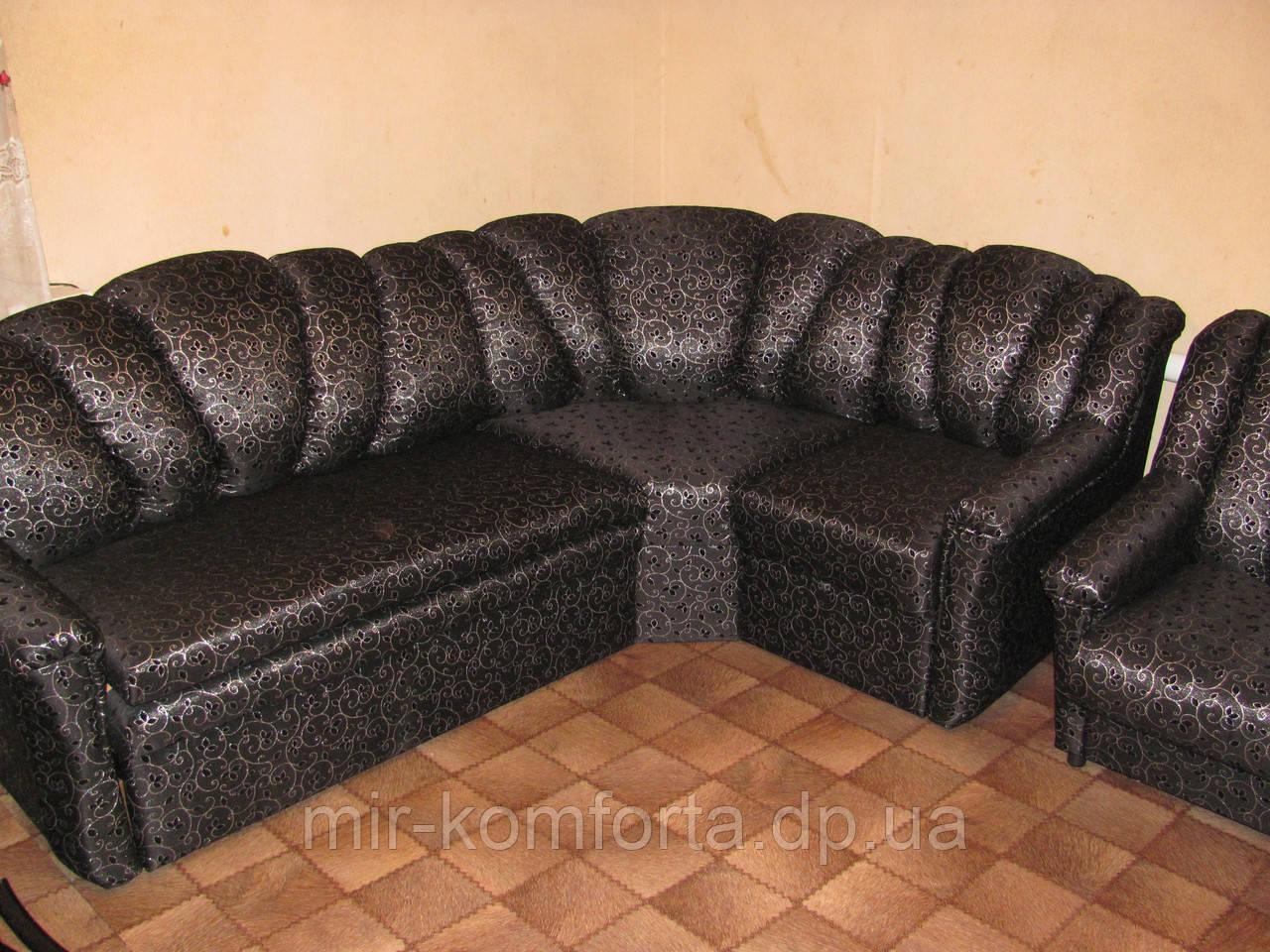 Перетяжка кутового дивана в Дніпрі