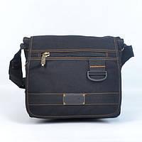Модна молодіжна  брезентова  сумка через плече GOLD BE