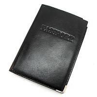 Обложка для паспорта кожаная черная Desisan, фото 1
