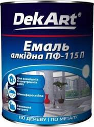 Краска Емаль алкидная ПФ-115П белая, 0.9кг, ТМ DekArt