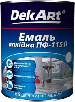 Краска Емаль алкидная ПФ-115П светло-голубой, 2,8кг, ТМ DekArt, фото 2