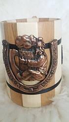 Деревянный бокал, литье, ручная работа