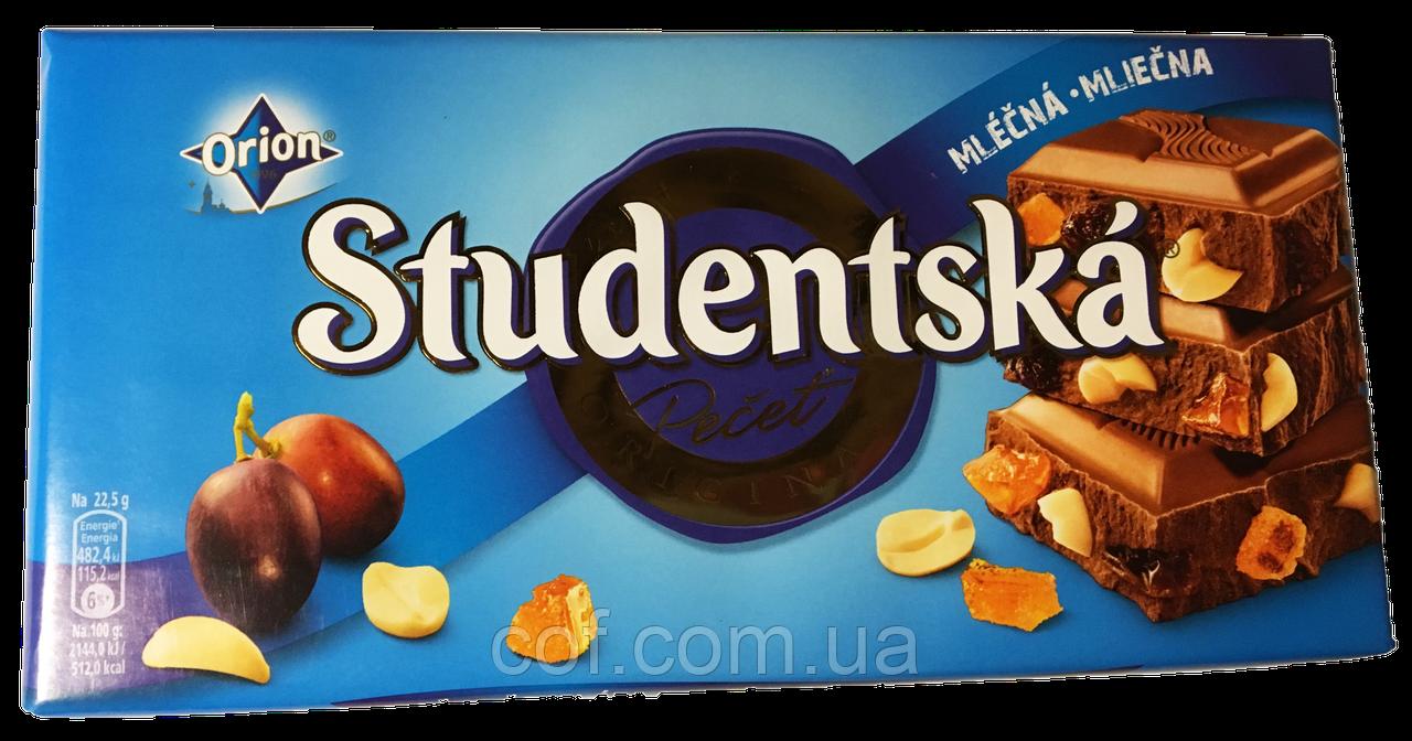 Шоколад молочный Orion Studentska Pecet со сливой 180г (Чехия)