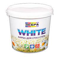 Краска интерьерная ЗЕБРА White (водоэмульсионная) (5 л)