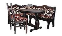 Плетена мебель із двома диванами