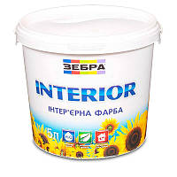 Краска интерьерная ЗЕБРА Interior (водоэмульсионная) (5 л)