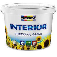 Краска интерьерная ЗЕБРА Interior (водоэмульсионная) (10 л)