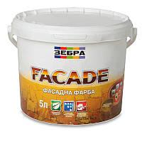Краска фасадная ЗЕБРА Fasade (водоэмульсионная) (5 л)