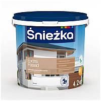 Краска фасадная акриловая СНЕЖКА Extra Fasad (4,2 кг) (водоэмульсионная)