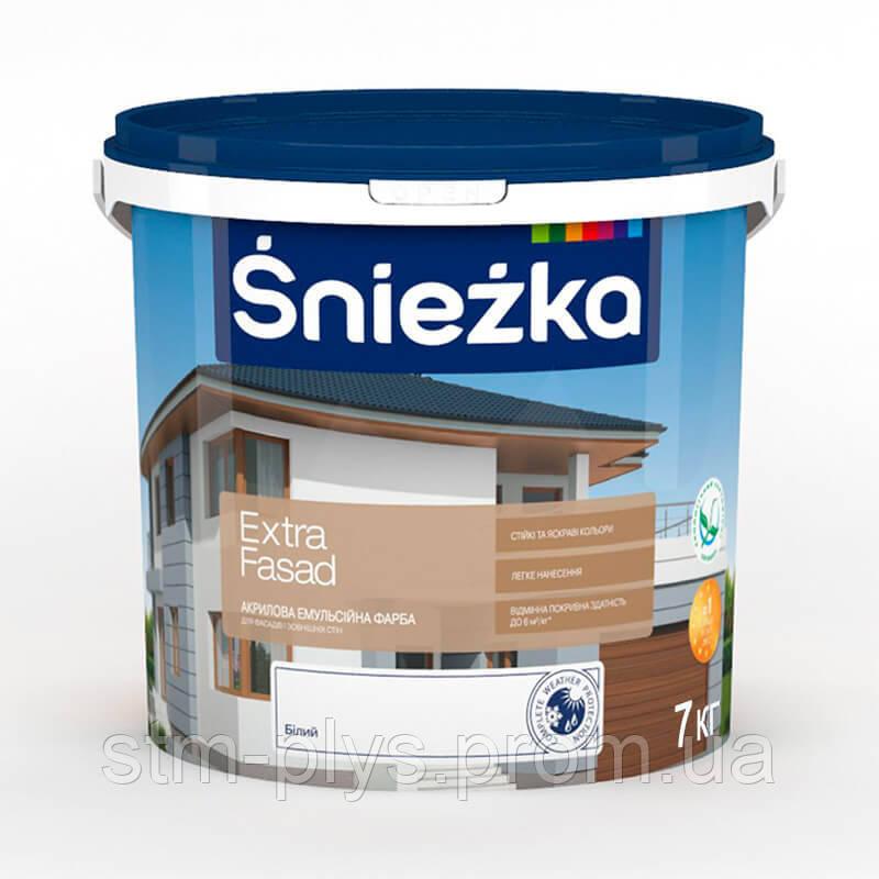 Краска фасадная акриловая СНЕЖКА Extra Fasad / 7 кг - СПЕЦТЕХМОНТАЖ в Харькове