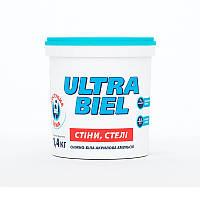 Краска интерьерная акриловая СНЕЖКА Ultra Biel (водоэмульсионная) (1,4 кг)