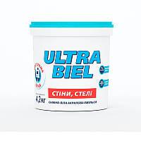 Краска интерьерная акриловая СНЕЖКА Ultra Biel (водоэмульсионная) (4,2 кг)