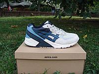 Новые крутые кроссовки Asics Gel Saga. (эсикс гел сега) белые с синим
